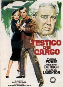 Cine clásico: TESTIGO DE CARGO (1957)